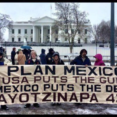 Protestas en 40 ciudades de EU por Ayotzinapa y para repudiar visita de EPN a Obama