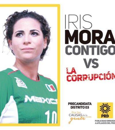 A PATADAS CONTRA LA CORRUPCIÓN: Se lanza la ex futbolista de la selección femenil, Iris Mora, como precandidata externa del PRD al Distrito 03