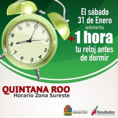 Recuerdan a viajeros tomar precauciones porque el domingo entra en vigor nuevo horario en Quintana Roo