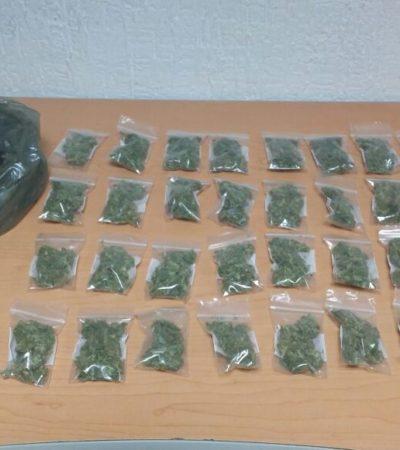 Detienen a tres 'tiradores' con marihuana