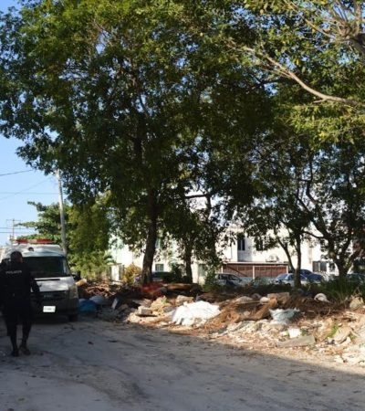 Hallan feto en un área verde ubicada a un costado de estancia infantil de la Región 92 de Cancún