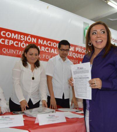 IRRUMPE CORA AMALIA EN FIESTA PRIISTA: La ex Alcaldesa de OPB se registra como precandidata del PRI para disputarle el distrito 02 a Arlet Mólgora