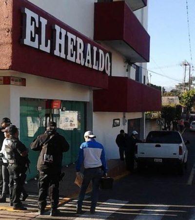 MÁS AGRESIONES A PERIODISTAS EN VERACRUZ: Lanzan bomba molotov contra instalaciones del diario 'El Heraldo de Córdoba'