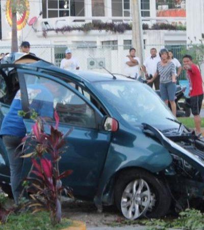 TRÁGICO ACCIDENTE EN LA BONAMPAK: Ebria conductora provoca accidente y muerte de compañera en Cancún