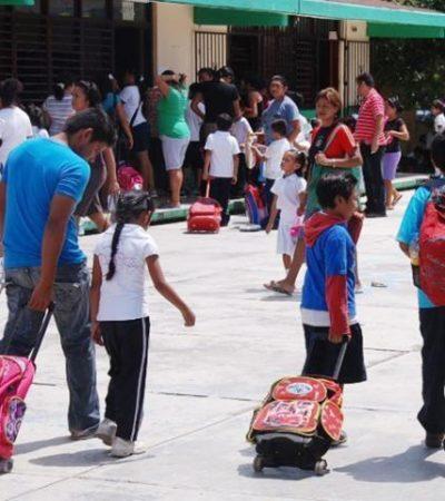 Tras vacaciones de fin de año, alistan regreso a clases para más de 410 ml alumnos en QR