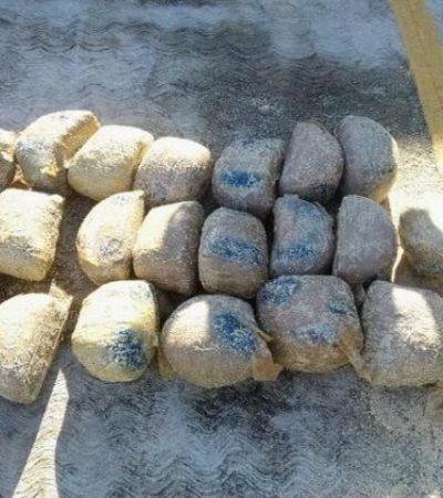 LA DROGA SIGUE PASANDO: Recala costal con 32 kilos de marihuana en Cozumel