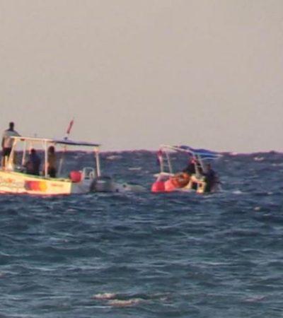 SUSTO EN EL MAR: Se hunde embarcación con 14 turistas frente a costas de Cozumel; rescatan a todos