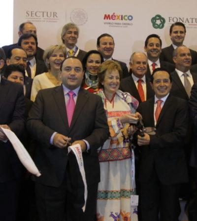 EL VIAJE DE BORGE A MADRID: Participa Gobernador de QR en corte de listón y cena en la Fitur