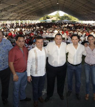 ¿ES BORGE 'JEFE DE PRECAMPAÑAS'?: Con el pretexto de festejar oootra vez su 'cumple', Gobernador placea a precandidatos… y ataja a yucatecos