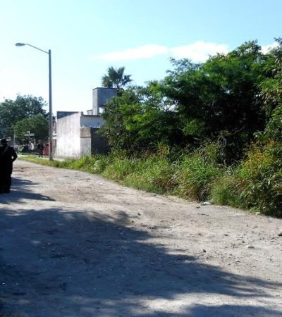 APARECE 'ENSABANADO' EN CANCÚN: Hallan el cuerpo de un hombre abandonado en área verde de la SM 202