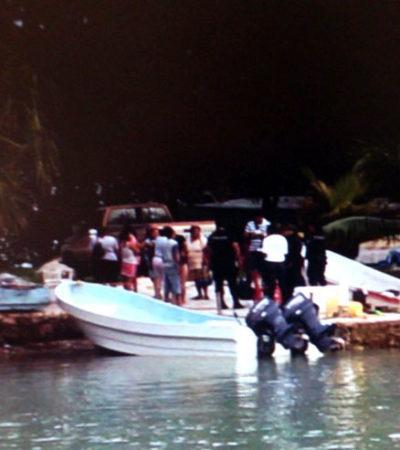 EMERGENCIA EN CALDERITAS: Se hunde lancha y tripulantes tuvieron que nadar para salvar la vida