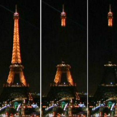 LUTO EN PARÍS POR 'CHARLIE HEBDO': Apagan las luces de la icónica torre Eiffel en rechazo al ataque a revista