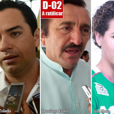 DEFINE PRD PRECANDIDATOS EN QR: Mandan a Sergio Flores contra el 'delfín' 'Chanito' Toledo en el D-01; Domingo iría por el D-02 y una mujer por el D-03