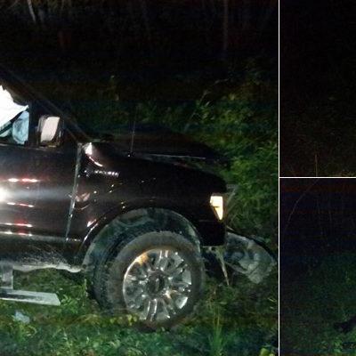 CARÁMBOLA FATAL: Una mujer fallecida y 10 heridos, el saldo de choque de conducor ebrio contra 3 autos en la vía libre Cancún-Mérida