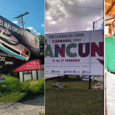 ESPECTACULAR TRANSA EN CANCÚN: Conceden espacios públicos a empresa de publicidad de un medio priista; repiten esquema de privilegios ya existente en Playa