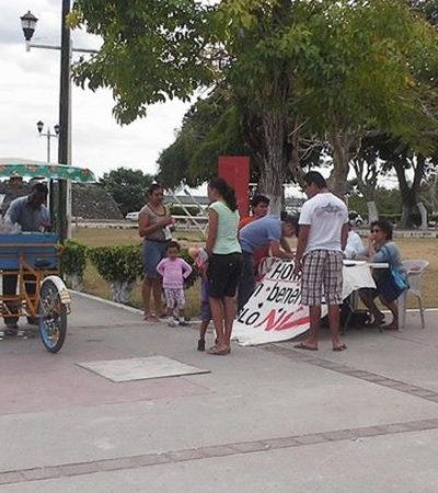 Recaban firmas en Bacalar en contra del cambio de horario en Quintana Roo