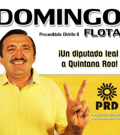 OFICIALIZAN CANDIDATURA DE DOMINGO FLOTA: El ex Alcalde de JMM abanderará al PRD en el Distrito 02; Sergio Flores va por el 01 y el 03, aún en el aire