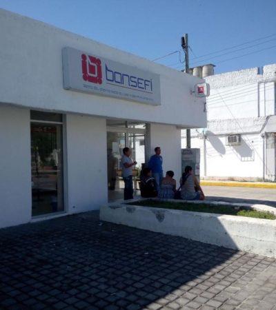 ATACA LA BANDA DEL BOQUETE: Entran a Bansefi de Cancún, pero no pudieron abrir cajas fuertes; roban una computadora