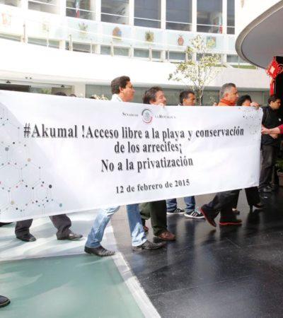 EXIGEN FRENAR PRIVATIZACIÓN DE PLAYAS: Demandan en el Senado evitar el cierre del acceso a las playas de Akumal