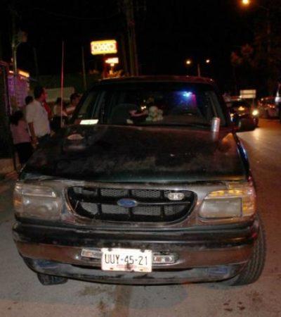 Policía ebrio arrolla y mata a un peatón en Cancún