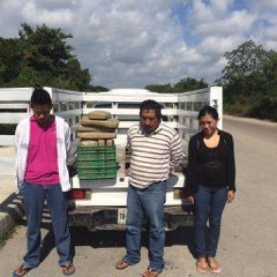 CAE FAMILIA CON DROGA: Detienen entre Tulum y a Akumal camioneta con doble fondo con 40 kilos de marihuana