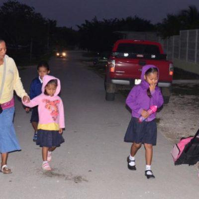 SIGUEN LOS AJUSTES DEL DESAJUSTE: Por cambio de huso horario, recorren hasta las 8 AM la entrada en escuelas rurales de QR