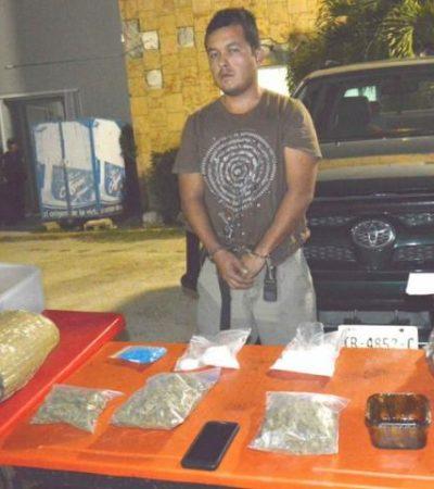 GOLPE A TRAFICANTES: Por conducir a exceso de velocidad, detienen a narco cargado con droga en Playa