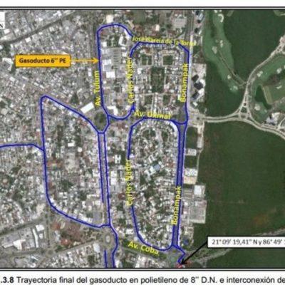 Proyecto de gasoducto en zona urbana de Cancún aún no realiza trámites municipales