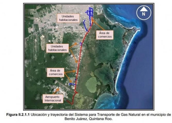 PLANEAN GASODUCTO PARA CANCÚN: Ingresan proyecto de 88 mdp para abastecer de gas a empresas y viviendas en plena zona urbana
