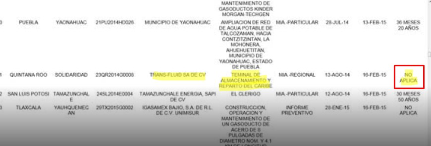 RECHAZAN LA TAR DEL CARIBE: Niega Semarnat permisos para construir polémica terminal para almacenar combustibles en Calica