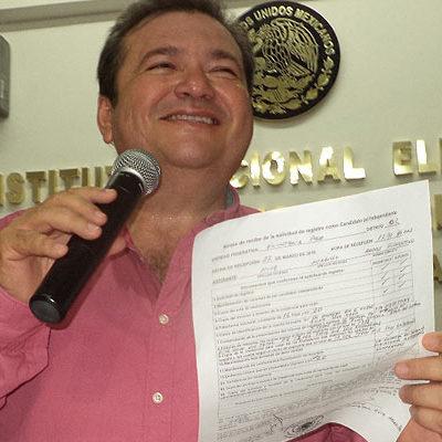 Polémico ex Alcalde priista de OPB, Andrés Ruiz Morcillo, se registra como candidato independiente a una diputación federal