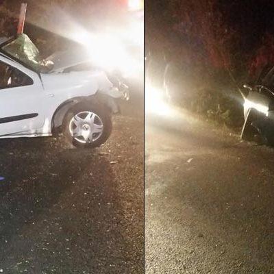 CHOQUE ENLUTA VACACIONES: Saldo de 3 muertos y 5 heridos en trágico accidente en la vía Cancún-Mérida, antes de llegar a Leona Vicario