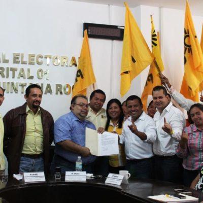 Se registra Sergio Flores como candidato del PRD a la diputación federal por el Distrito 01