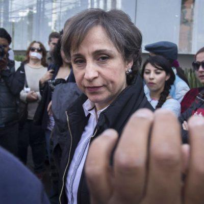"""Piden Senadores (ninguno del PRI) abrir """"inmediatamente"""" el Canal del Congreso a Carmen Aristegui"""