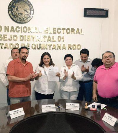 Se registra Fabiola Ballesteros como candidata a diputada federal del PAN por el Distrito I