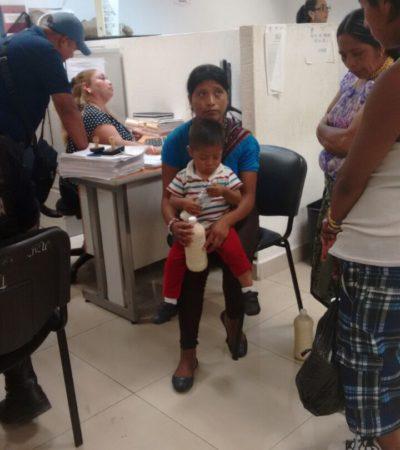 Sano y salvo, encuentran al niño guatemalteco arrebatado de los brazos de su madre en Cancún