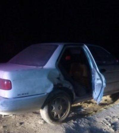 Recuperan auto robado con un bebé adentro en Cancún