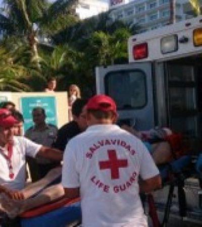 ACCIDENTE EN PLAYA TORTUGAS: Grave, un turista inglés tras chocar en moto acuática contra barco de Ultramar en Cancún