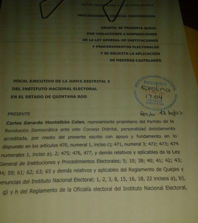 Presenta PRD nueva queja ante el INE por entrega de despensas del PVEM en Quintana Roo