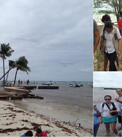 Constata Profepa daños en playas de la Riviera Maya; le reclaman falta de acción