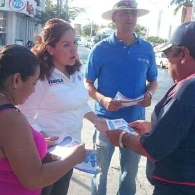 En Playa del Carmen, Fabiola Ballesteros dice que pugnará por más empleos y mejores salarios para trabajadores