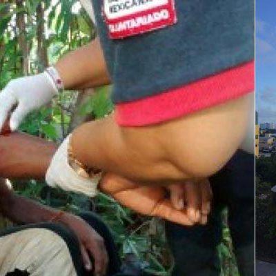 NUEVO ATAQUE DE COCODRILO EN CANCÚN: Atienden paramédicos a hombre que fue mordido por un saurio en la orilla de la laguna Bojórquez