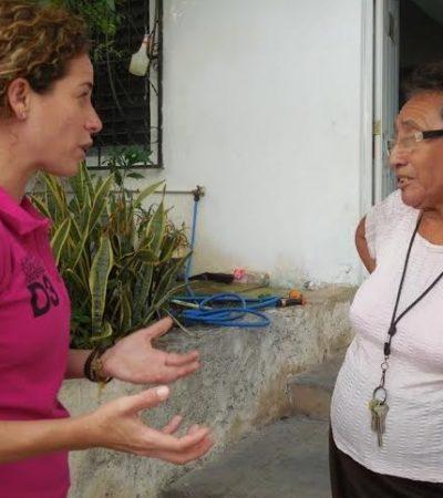 Recorre Iris Mora la Tabachines y la Región 95