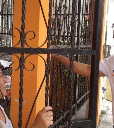"""En busca del voto en el D-03, dice panista Joel Espinoza que si ya bajó el petróleo, """"que baje la gasolina"""""""