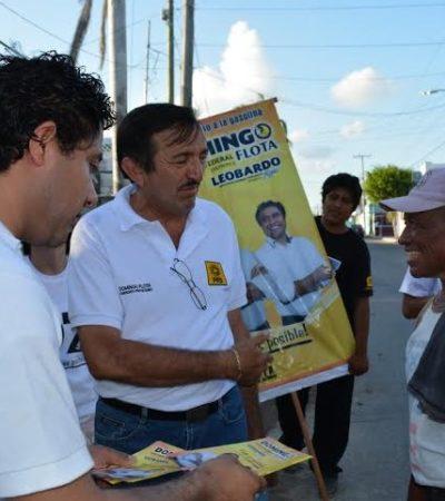 """Apela Domingo Flota al orgullo de los habitantes del sur de QR para salir a votar y poner un alto a las 'atrocidades"""""""