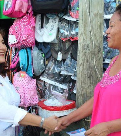 Es urgente mejorar ya la economía de nuestras familias quintanarroenses: Fabiola Ballesteros