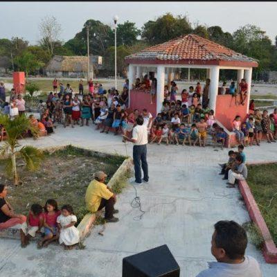 Cosecha Domingo Flota apoyos en comunidades de la Zona Maya para ganar el Distrito 02