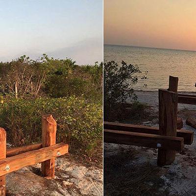 'EL ANDADOR DEL DIABLO' EN HOLBOX: Denuncian construcción de puentes en sitio de descanso y anidación de aves