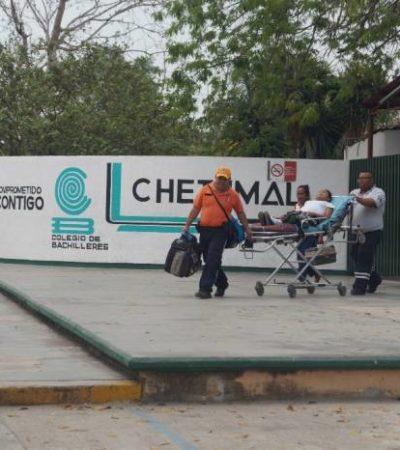 DE LA PREPA A LA SALA DE PARTOS: Emergencia por una alumna que estuvo a punto de dar a luz en salón de clases en Chetumal