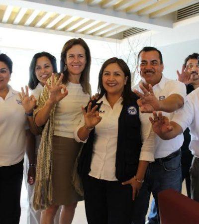 Apoya Margarita Zavala a candidatos de Acción Nacional en Quintana Roo